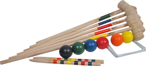 PEARL Kinder Boccia-Ball: Boule- & Boccia-Spiel: 8 Metall
